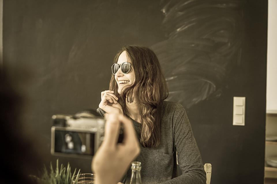 Schauspielerin Nele Milas beim Dreh, Foto: Jo Kirchherr
