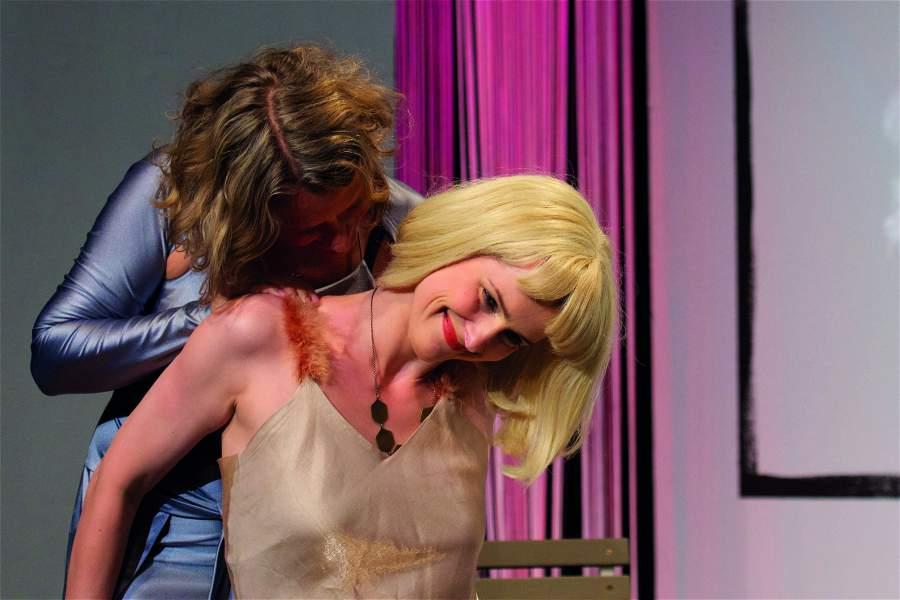 Schauspieltraining, Inszenierung Balkonszenen, Foto: M. Decher