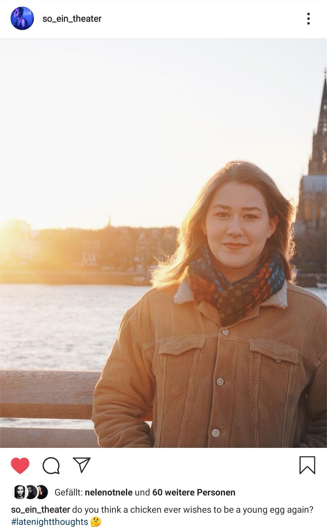 Isabella Kolb studiert derzeit im zweiten Jahr Schauspiel an der Theaterakademie Köln